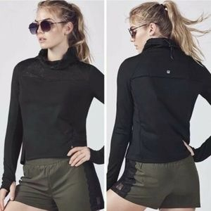 Fabletics women M Jolie jacket black lace pullover